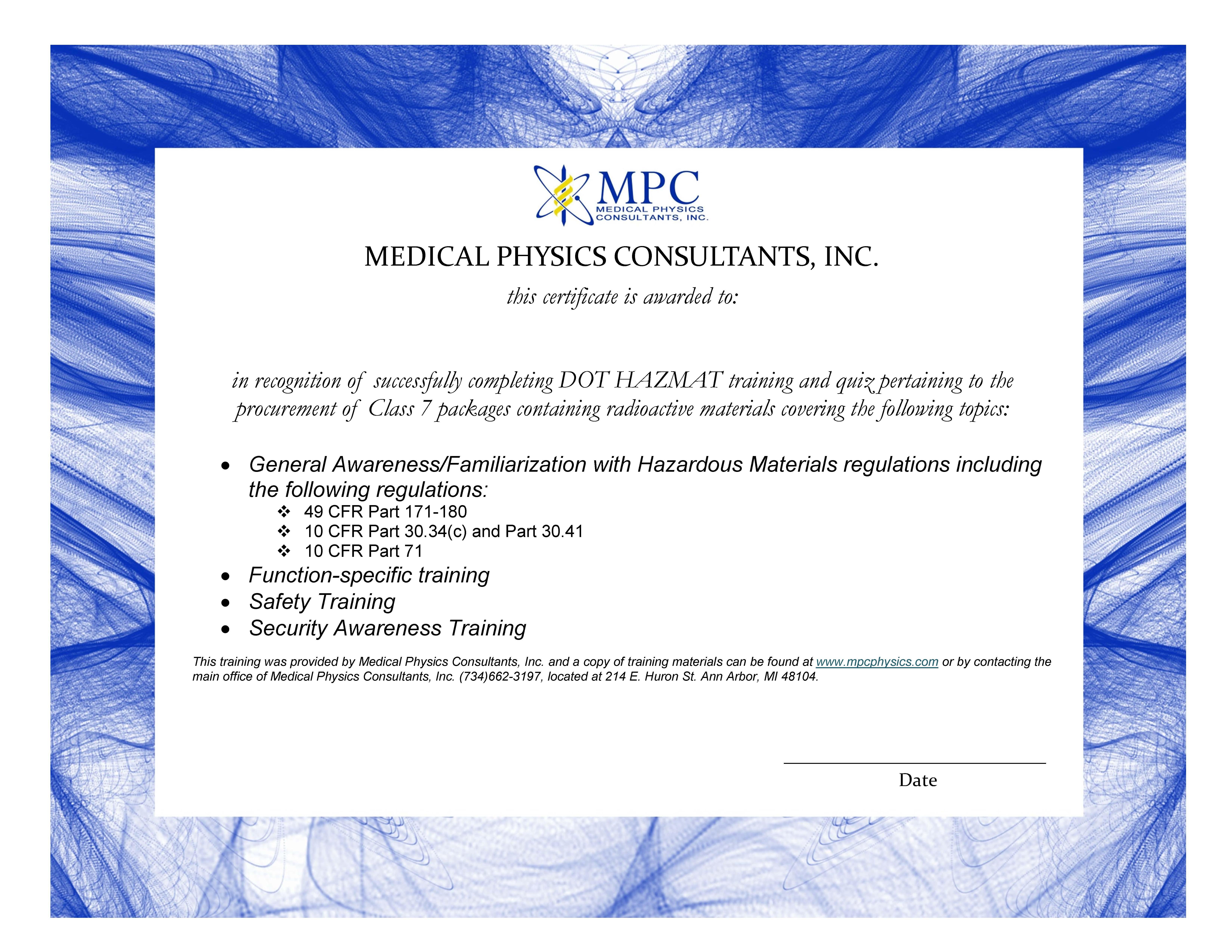certificate hazmat medical final